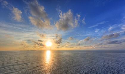 Sea horizon Coral expeditions northern Australia