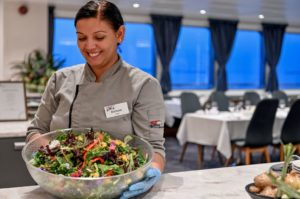 Cuisine on board Coral Expeditions Ships
