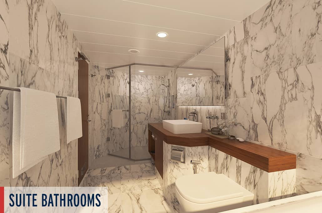 Coral Geographer Suite Bathroom Render