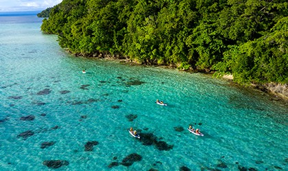 Kayaking the turquoise waters of Sebakor Bay TH