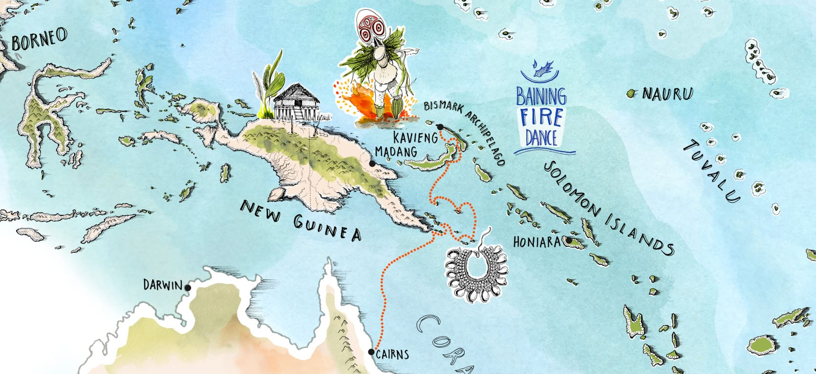 Small Islands of The World - Kavieng to Cairns Map