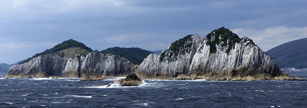 Breaksea Islands at Port Davey