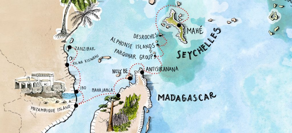 Indian Ocean - Mauritius to Zanzibar Website Map