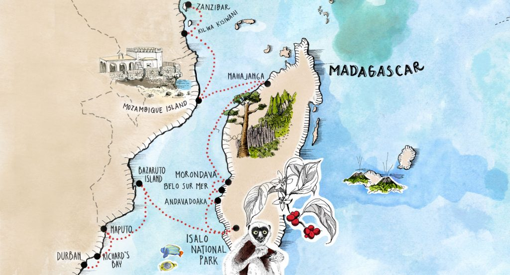 Zanzibar to Durban Website Map