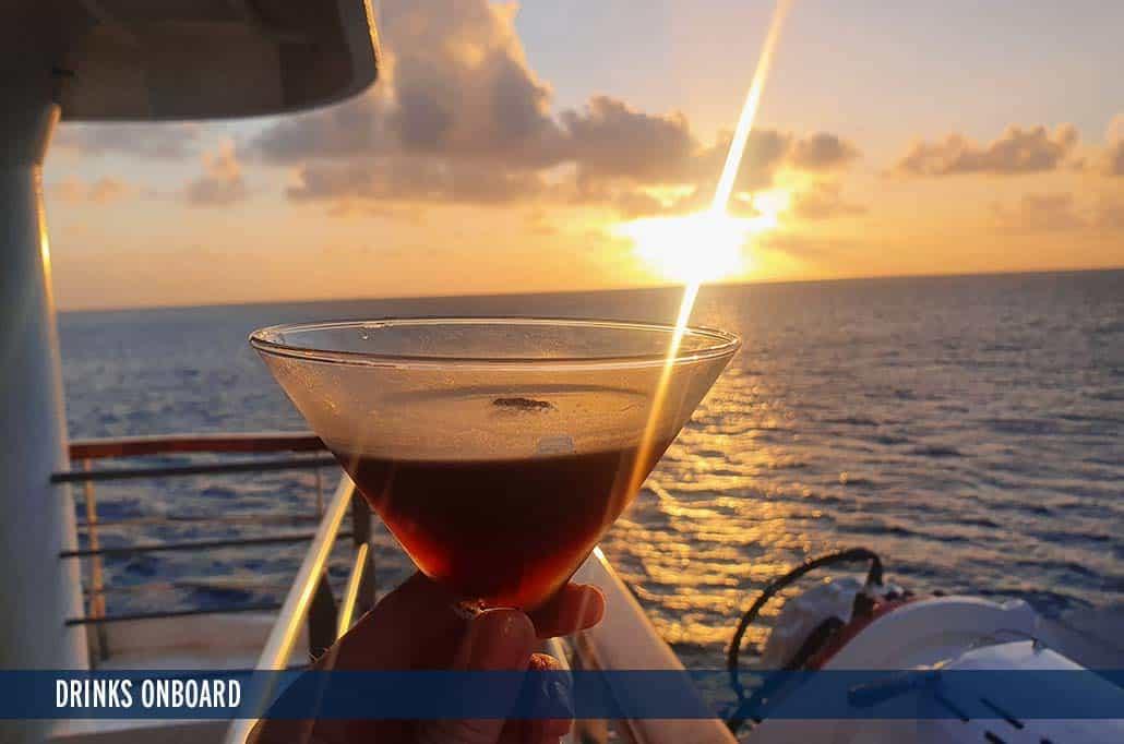 DRINKS ONBOARD CORAL DISCOVERER