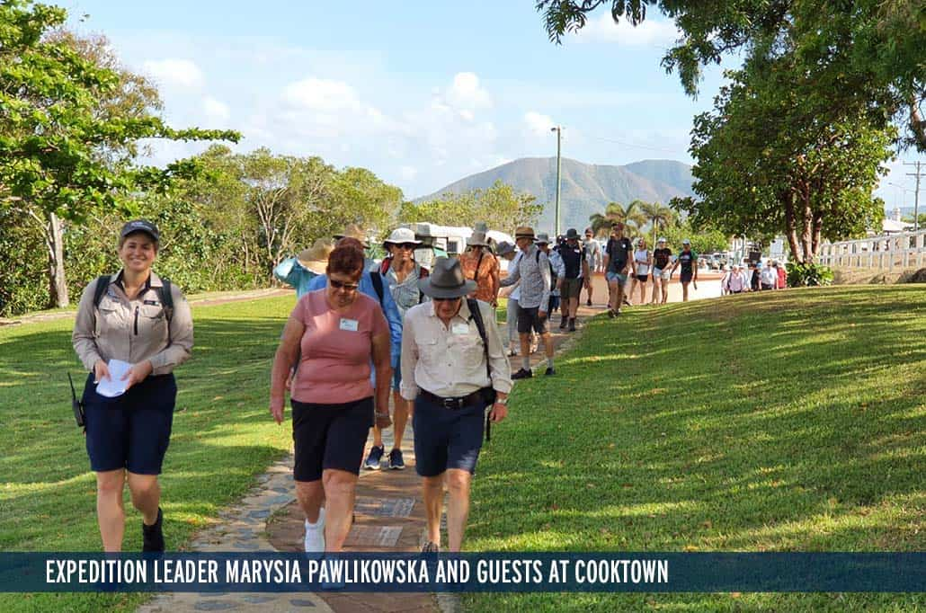 Expedition Leader Marysia with Guests at Cooktown