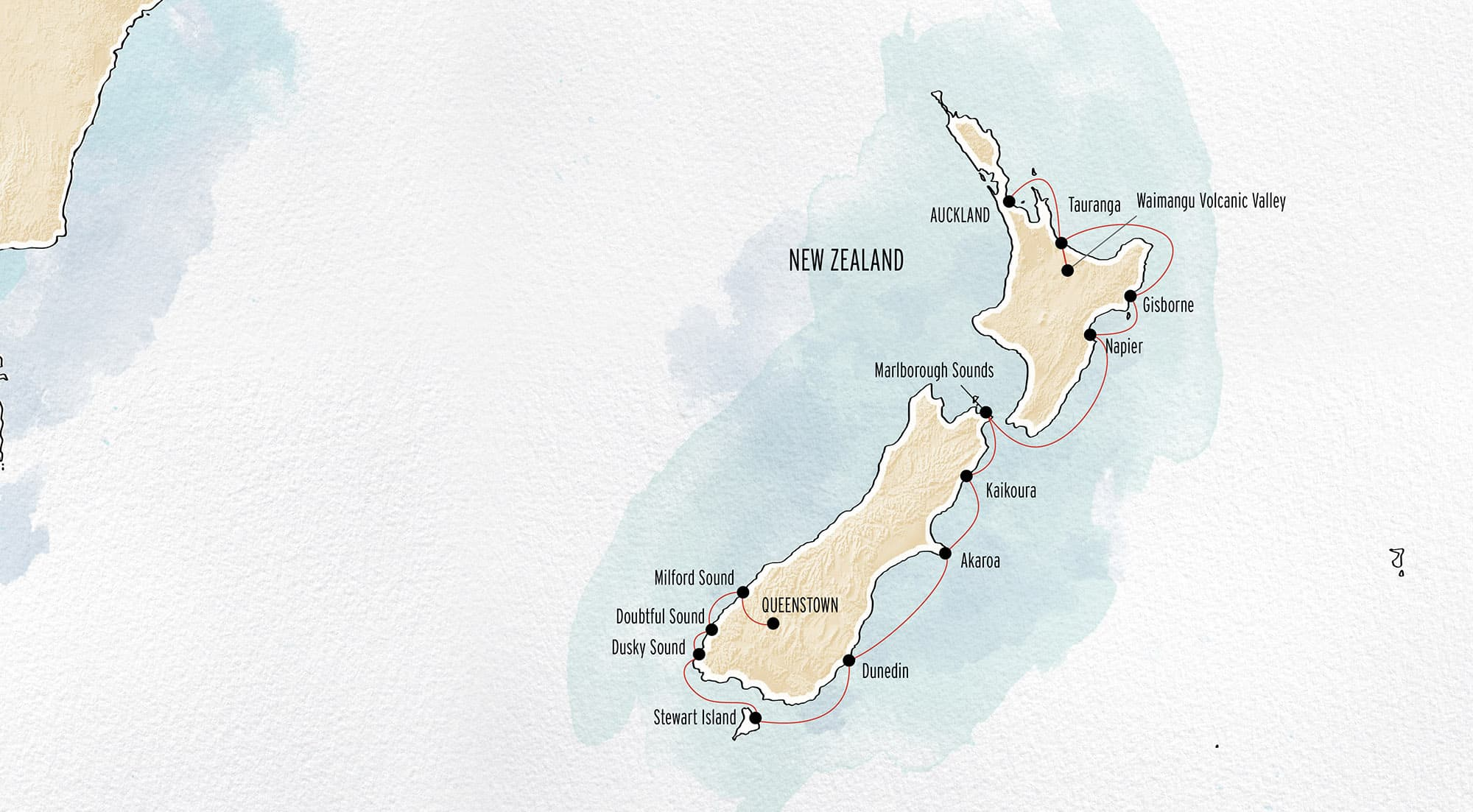 Auckland - Queenstown Coral Expeditions