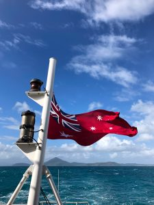 Coral Expeditions Australian flag