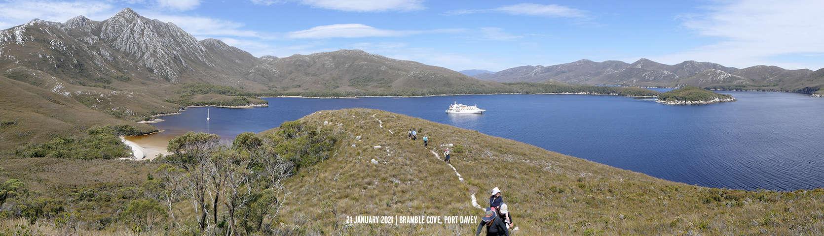 Coral Discoverer at Bramble Cove Port Davey 2021 Tasmania