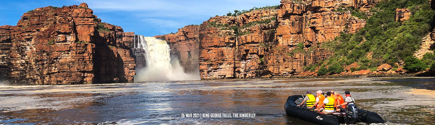 King George Falls The Kimberley with Coral Expeditions