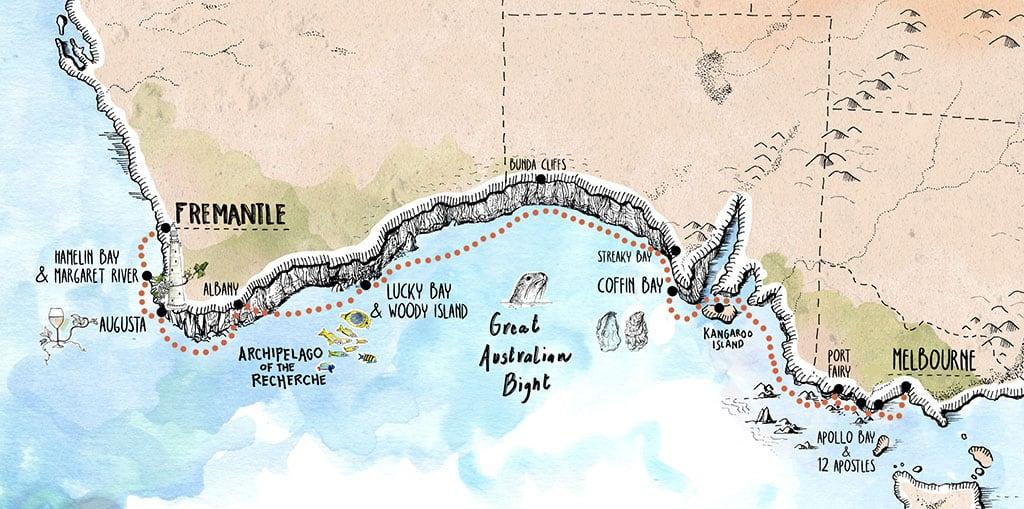South Australia Voyage - Melbourne to Fremantle