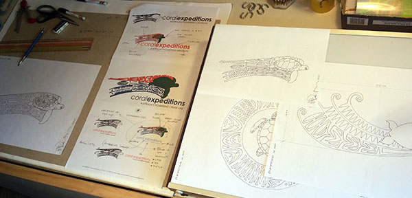 Coral Expeditions Logo Sketches