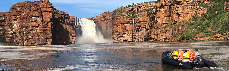 Waterfalls in Force at King George Falls